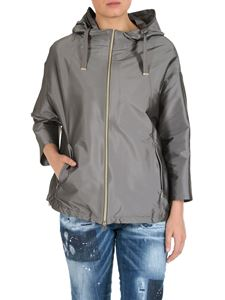Herno - Hooded jacket in silver color