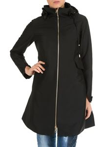 Herno - Black hooded coat