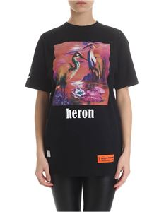 Heron Preston - Black t-shirt with heron print