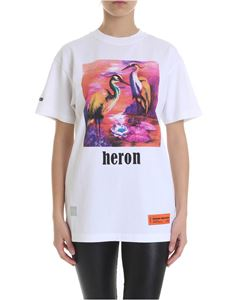 Heron Preston - White t-shirt with herons print