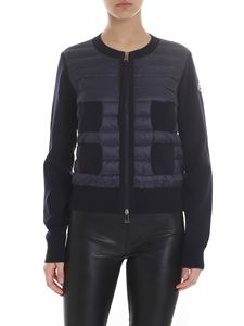 Moncler - Down cardigan in blue