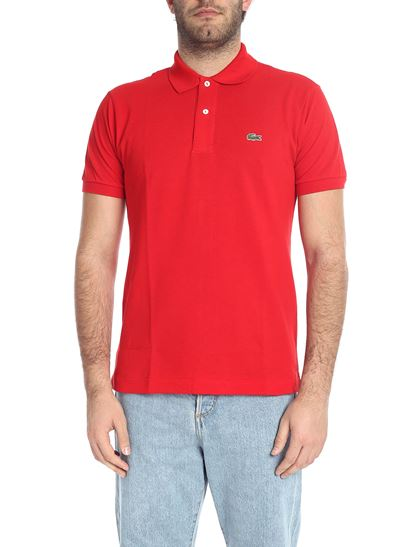 87fd8b359 Lacoste Spring Summer 2019 red polo shirt with logo patch - L1212 00 240