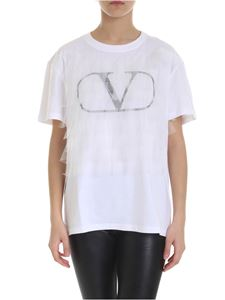 Valentino - Valentino t-shirt in white with tulle