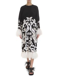 Valentino - Phoenix embroidered dress in black and white