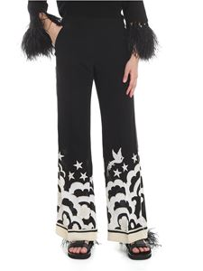 Valentino - Phoenix printed trousers in black and white
