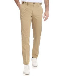 Calvin Klein - Beige trousers with logo embroidery
