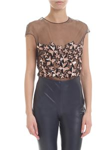 Elisabetta Franchi - Black bodysuit with applied stars