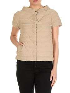 Herno - Short-sleeved down jacket in golden color