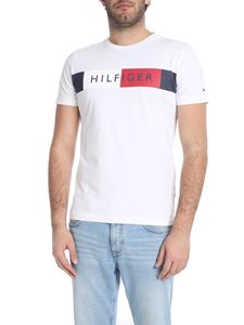 Tommy Hilfiger - White crew-neck t-shirt with logo