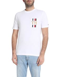 Tommy Hilfiger - White T-shirt with logo on the pocket
