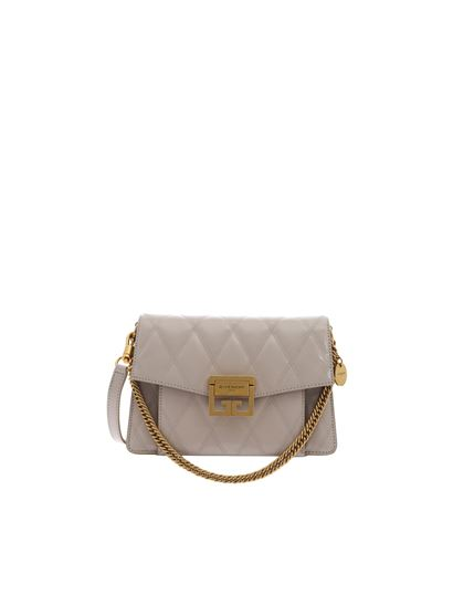 a9f85e9292 Givenchy Spring Summer 2019 small gv3 bag in gray quilted leather ...
