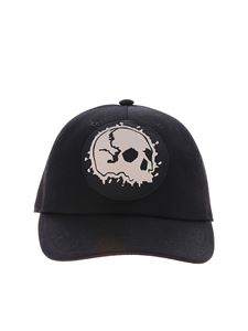 Alexander McQueen - Black hat with skull patch