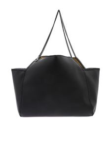 Stella McCartney - Black Falabella shopping bag with thin chain