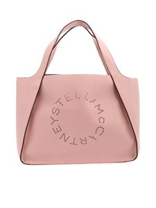 Stella McCartney - Pink Bora shopping bag with logo