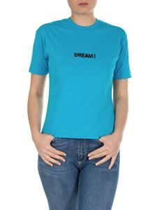 MSGM - Dream printed T-shirt in turquoise