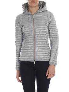 Save the duck - Grey down jacket with synthetic padding