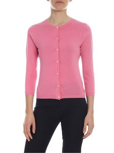 Aspesi - Pink cotton knitted cardigan