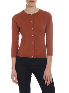 Aspesi - Rust knitted cardigan