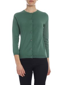 Aspesi - Green cotton knitted cardigan