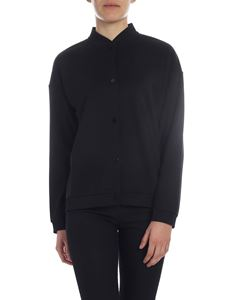 Woolrich - Black cotton blend cardigan