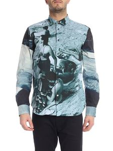Paul Smith - Blue green shirt with beach print