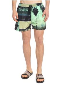 Paul Smith - Green swim shorts with photo print