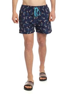 Paul Smith - Swim shorts with seahorse print