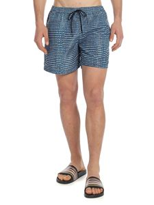Paul Smith - Blue geometric print swim shorts