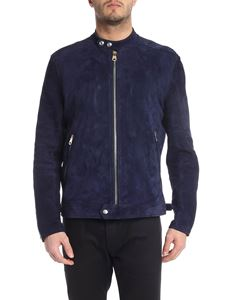 Paul Smith - Blue suede leather jacket