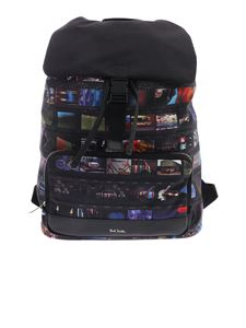 Paul Smith - Black mini Film printed backpack