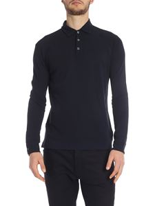 Zanone - Dark blue Zanone polo shirt