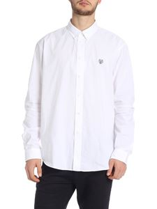 Kenzo - White Tiger Crest shirt with embroidery