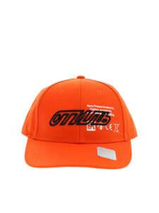 Heron Preston - Orange printed baseball hat with embroidery