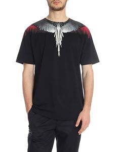 Marcelo Burlon - Black cotton Wings T-shirt