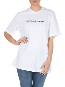 MSGM - Sognare Insieme printed t-shirt in white