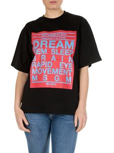 MSGM - Dream Rem Sleep printed t-shirt in black cotton