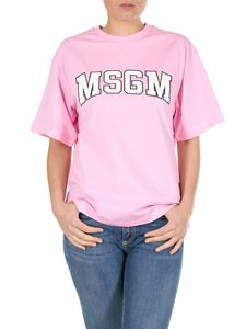 MSGM - MSGM college printed t-shirt in pink