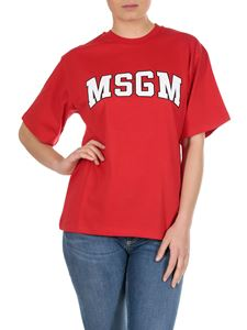 MSGM - MSGM college printed t-shirt in red