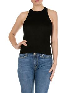 MSGM - Black ribbed top with MSGM logo