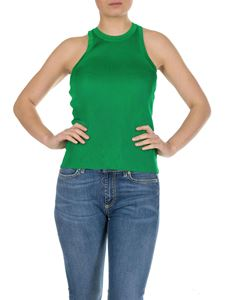 MSGM - Green ribbed top with MSGM logo
