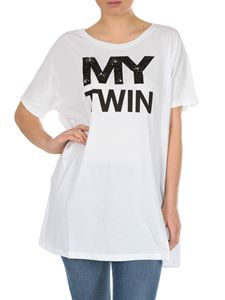 MY TWIN Twinset - My Twin printed T-shirt in white