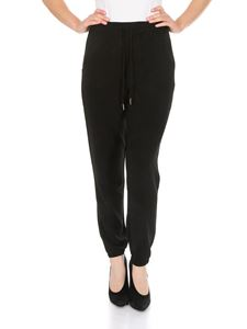 MY TWIN Twinset - Pantalone jogging nero