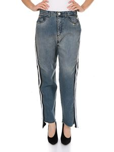 MY TWIN Twinset - Jeans Loose in cotone blu