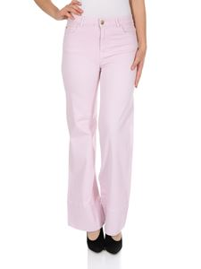 MY TWIN Twinset - Jeans a palazzo in cotone rosa