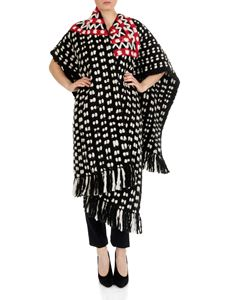 Gabriela Hearst - Diego poncho in black, white and red