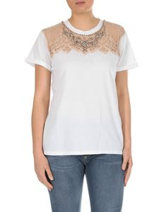 Twin-Set - White T-shirt with lace insert