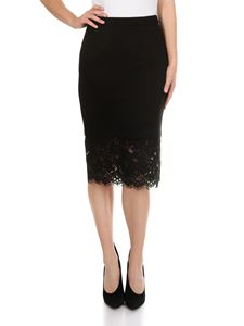 Twin-Set - Black pencil skirt with lace bottom