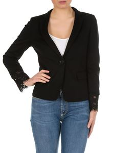 Twin-Set - One button jacket in black jersey