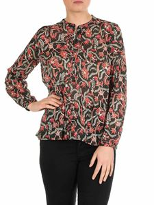 Isabel Marant Étoile - Maria black shirt with all-over pattern