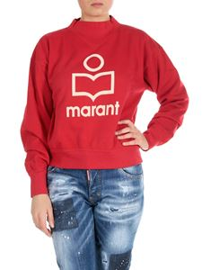 Isabel Marant Étoile - Moby logo sweatshirt in red